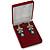 Luxury Burgundy Red Velour Brooch/ Pendant/ Earring/ Hair Accessories Jewellery Box - view 2