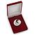 Luxury Burgundy Red Velour Brooch/ Pendant/ Earring/ Hair Accessories Jewellery Box - view 6