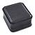 Luxury Square Black Snake Pattern Leatherette Brooch/ Pendant/ Earrings Jewellery Box