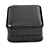 Luxury Square Black Snake Pattern Leatherette Brooch/ Pendant/ Earrings Jewellery Box - view 8