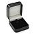 Luxury Square Black Snake Pattern Leatherette Brooch/ Pendant/ Earrings Jewellery Box - view 2