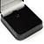 Luxury Square Black Snake Pattern Leatherette Brooch/ Pendant/ Earrings Jewellery Box - view 3