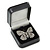 Luxury Square Black Snake Pattern Leatherette Brooch/ Pendant/ Earrings Jewellery Box - view 6