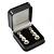 Luxury Square Black Snake Pattern Leatherette Brooch/ Pendant/ Earrings Jewellery Box - view 7