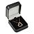 Luxury Square Black Snake Pattern Leatherette Brooch/ Pendant/ Earrings Jewellery Box - view 5