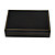 Large Luxury Black Leatherette Brooch/ Pendant/ Earrings/ Comb/ Set Jewellery Box - view 8
