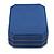 Large Blue Leatherette Brooch/ Pendant/ Earrings Octagonal Jewellery Box - view 4