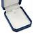 Large Blue Leatherette Brooch/ Pendant/ Earrings Octagonal Jewellery Box - view 3