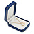 Large Blue Leatherette Brooch/ Pendant/ Earrings Octagonal Jewellery Box - view 5