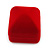 Small Square Red Velour Ring Jewellery Box - view 6