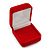 Small Square Red Velour Ring Jewellery Box - view 2