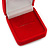Small Square Red Velour Ring Jewellery Box - view 4