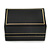 Black Leatherette One & Two Rings Box (Rings are not included) - view 6