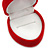 Small Red Velour Heart Ring Jewellery Box - view 3