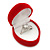 Small Red Velour Heart Ring Jewellery Box - view 4