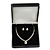 Large Luxury Square Black Snake Pattern Leatherette Brooch/ Pendant/ Necklace/ Set/ Earring Jewellery Box - The Jewellery Set are not Included