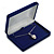 Luxury Blue Velour Brooch/ Pendant/ Earring/ Comb Jewellery Box - view 2