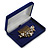 Luxury Blue Velour Brooch/ Pendant/ Earring/ Comb Jewellery Box - view 4