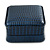 Luxury Square Dark Blue Snake Leatherette Brooch/ Pendant/ Earrings Jewellery Box - view 7