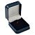 Luxury Square Dark Blue Snake Leatherette Brooch/ Pendant/ Earrings Jewellery Box - view 2