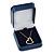 Luxury Square Dark Blue Snake Leatherette Brooch/ Pendant/ Earrings Jewellery Box - view 6
