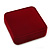 Large Luxury Square Burgundy Velour Brooch/ Pendant/ Earrings Jewellery Box - view 1