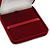 Large Luxury Square Burgundy Velour Brooch/ Pendant/ Earrings Jewellery Box - view 6