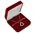 Large Luxury Square Burgundy Velour Brooch/ Pendant/ Earrings Jewellery Box - view 3
