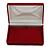Luxury Burgundy Velour Brooch/ Pendant/ Earring/ Comb Jewellery Box - view 10