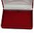 Luxury Burgundy Velour Brooch/ Pendant/ Earring/ Comb Jewellery Box - view 3