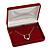 Luxury Burgundy Velour Brooch/ Pendant/ Earring/ Comb Jewellery Box - view 4