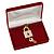 Luxury Burgundy Velour Brooch/ Pendant/ Earring/ Comb Jewellery Box - view 5