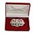 Luxury Burgundy Velour Brooch/ Pendant/ Earring/ Comb Jewellery Box - view 2