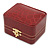 Victorian Style Burgundy Red Snake Leatherette Box for One & Two Rings With Gold Tone Metal Closure - view 9
