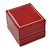 Burgundy Red Leatherette Two Ring Or Stud Earrings Box (The Rings Are Not Included) - view 2