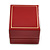 Burgundy Red Leatherette Two Ring Or Stud Earrings Box (The Rings Are Not Included) - view 6