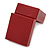 Burgundy Red Leatherette Two Ring Or Stud Earrings Box (The Rings Are Not Included) - view 5