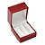 Burgundy Red Leatherette Two Ring Or Stud Earrings Box (The Rings Are Not Included)