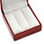 Burgundy Red Leatherette Two Ring Or Stud Earrings Box (The Rings Are Not Included) - view 4