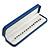 Luxury Blue Leatherette Bracelet/ Pendant/ Watch Octagonal Jewellery Box - view 4