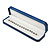Luxury Blue Leatherette Bracelet/ Pendant/ Watch Octagonal Jewellery Box - view 6