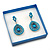Glitter Blue Earrings/ Brooch/ Pendant/ Set Jewellery Box - view 5