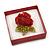 Glitter Red Earrings/ Brooch/ Pendant/ Set Jewellery Box - view 4