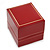 Large Burgundy Red Leatherette Ring Box - view 4