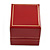 Large Burgundy Red Leatherette Ring Box - view 6
