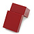 Large Burgundy Red Leatherette Ring Box - view 5