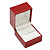 Large Burgundy Red Leatherette Ring Box