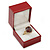 Large Burgundy Red Leatherette Ring Box - view 2