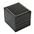 Large Black Leatherette Ring Box - view 2