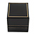 Large Black Leatherette Ring Box - view 7